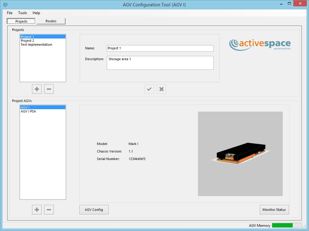 AGV fleet management GUI